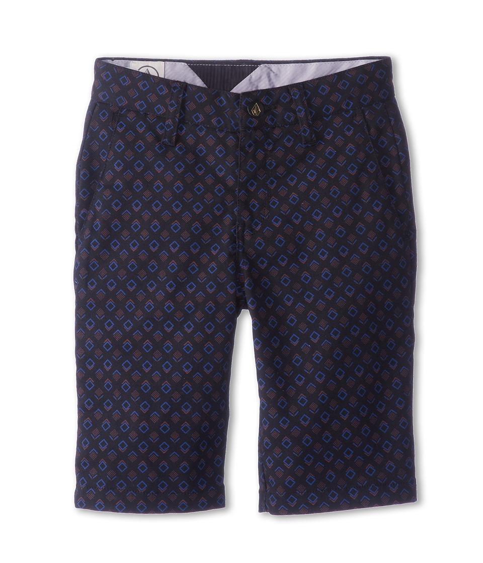 Volcom Kids - Frickin Printed Stretch Short (Big Kids) (Black) Boy's Shorts