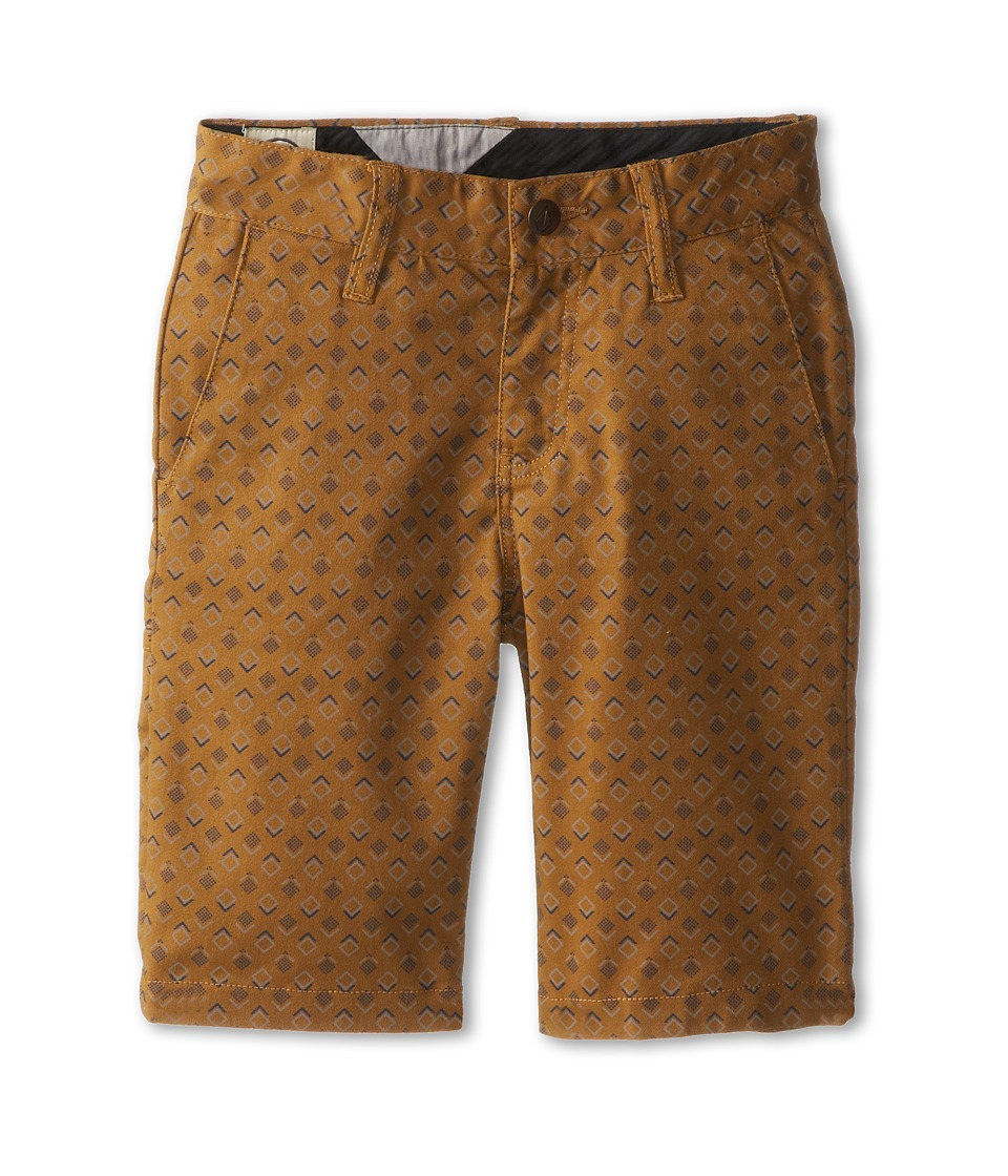 Volcom Kids - Frickin Printed Stretch Short (Big Kids) (Hazelnut) Boy's Shorts