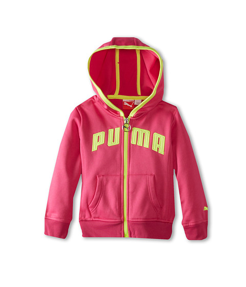 Puma Kids - Active Core Zip Hoodie (Toddler) (Raspberry Rose) Girl's Sweatshirt