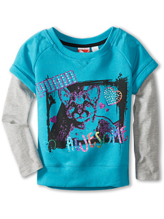 SALE! $12 - Save $18 on Puma Kids Pullover Slider Sweatshirt (Little Kids) (Blue Bird) Apparel - 60.00% OFF $30.00