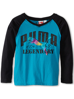 SALE! $12 - Save $12 on Puma Kids Legendary L S Tee (Little Kids) (Blue Bird) Apparel - 50.00% OFF $24.00