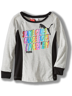 SALE! $9.6 - Save $14 on Puma Kids Pass`Em L S Tee (Little Kids) (Grey Heather) Apparel - 60.00% OFF $24.00