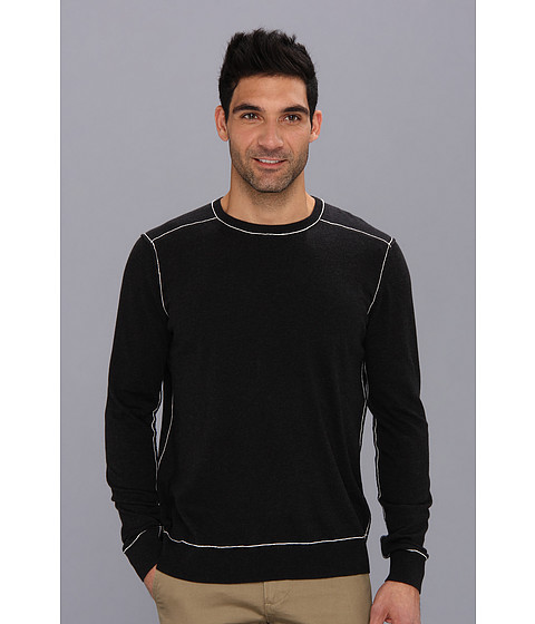 Agave Denim - D. Brewer L/S Fine Gauge (Anthracite) Men's Long Sleeve Pullover