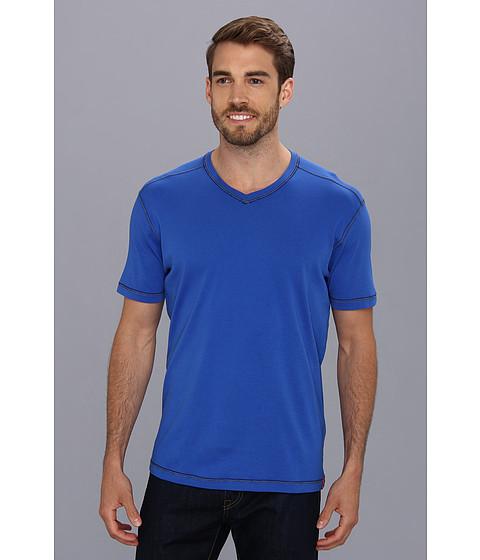 Agave Denim - D. Anderson S/S V-Neck (Dazzling Blue) Men's Short Sleeve Pullover