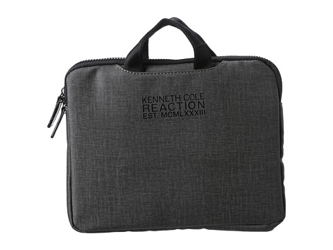 Kenneth Cole Reaction Slim Single Gusset Top Zip Tablet Case. (Gray) Bags