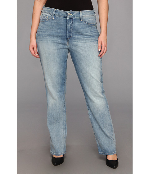 NYDJ Plus Size - Plus Size Marilyn Straight in Manhattan Beach (Manhattan Beach) Women's Jeans