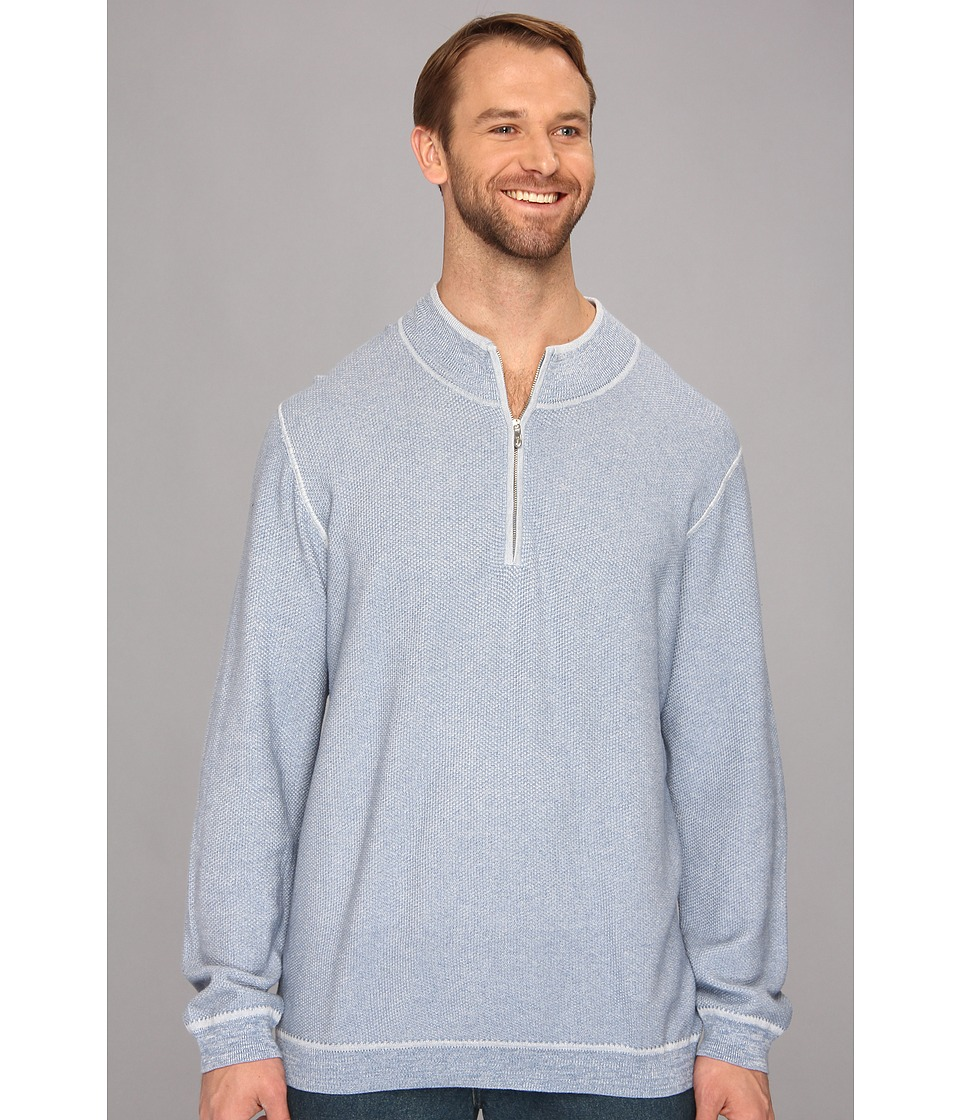 Tommy Bahama Big & Tall - Big Tall Seaside Avenue Half Zip Sweater (Serenity) Men's Sweater