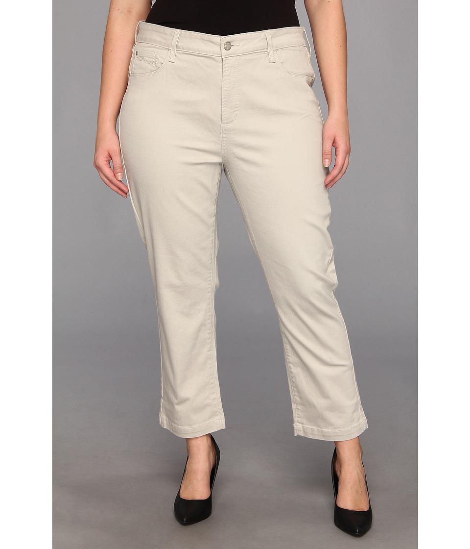 NYDJ Plus Size - Plus Size Audrey Ankle Jean (Stone) Women
