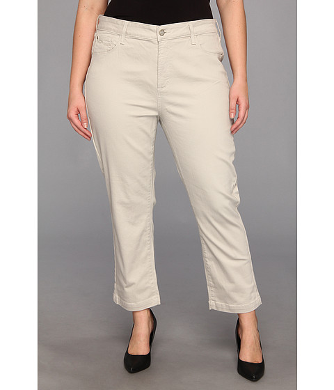NYDJ Plus Size - Plus Size Audrey Ankle Jean (Stone) Women's Jeans