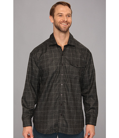 Tommy Bahama Big & Tall - Big Tall Cambridge Cruiser Shirt Jacket (Dark Grey Heather) Men