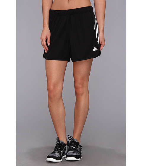 adidas - Ultimate 3-Stripes Knit Short (Black/White) Women