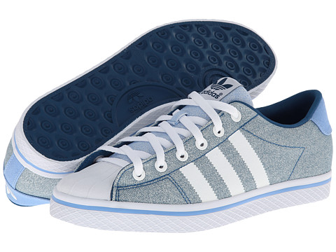 adidas Originals - Vulc Star Lo EF (Tribe Blue/White/Bahia Light Blue) Women
