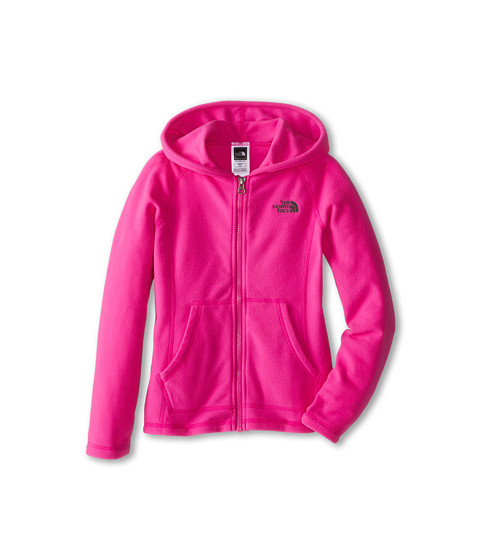 The North Face Kids - Glacier Full Zip Hoodie (Little Kids/Big Kids) (Azalea Pink) Girl's Sweatshirt