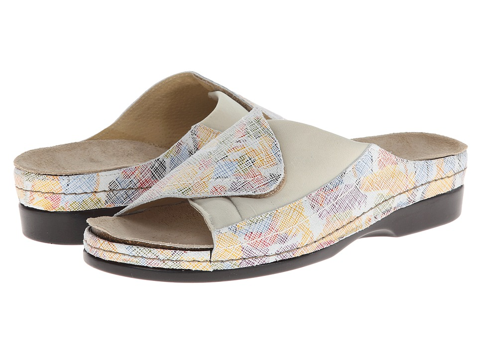 Helle Comfort - Tamra (Off White Multi) Women's Slide Shoes