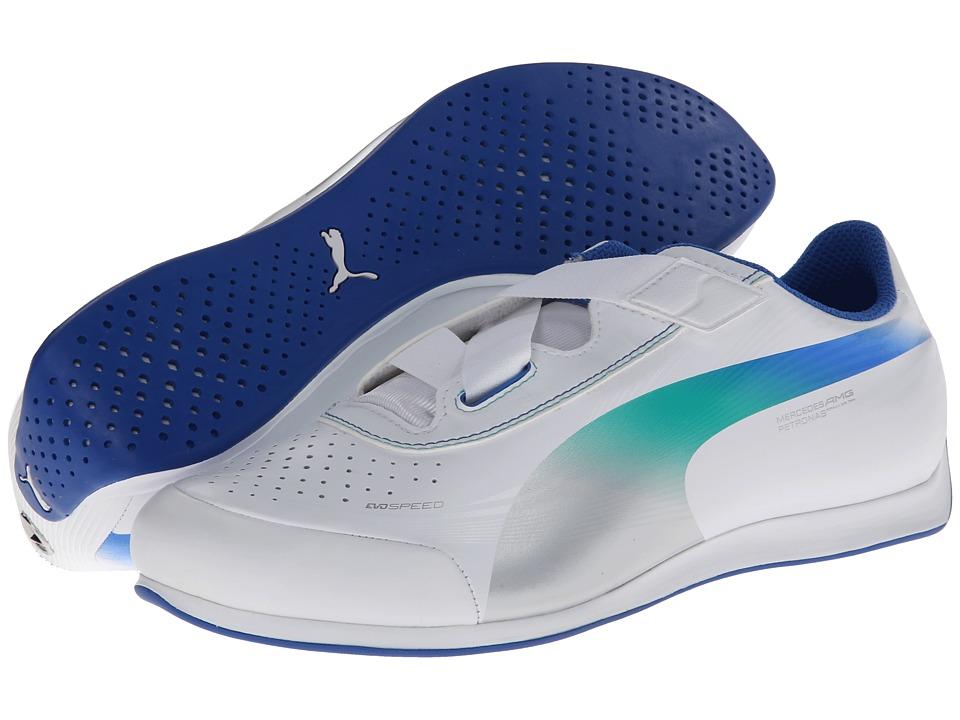 PUMA - evoSPEED MamGP 1.2 Lo NM (White/PUMA Silver/Victoria Blue) Men's Shoes