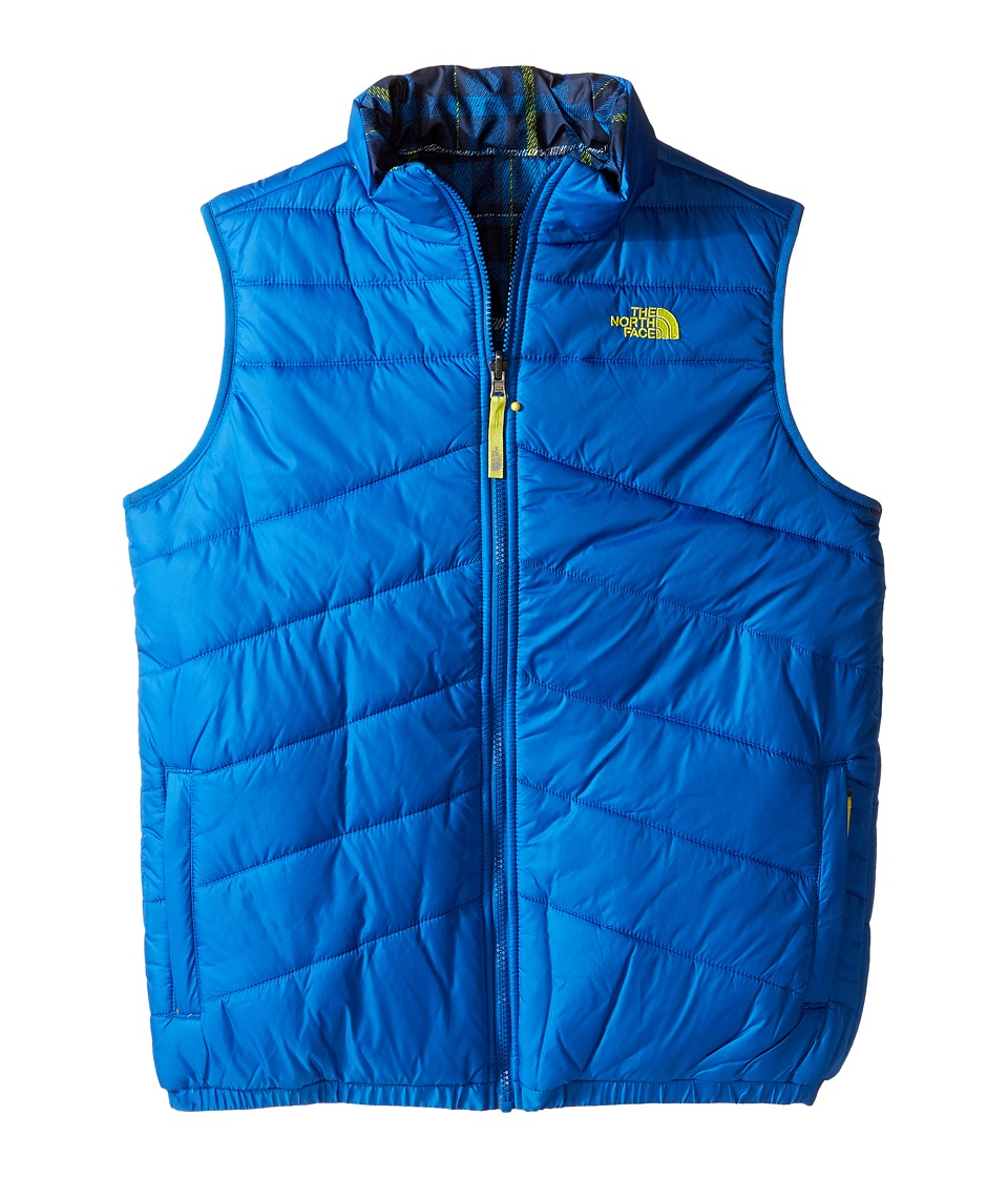 The North Face Kids - Reversible Perrito Vest (Little Kids/Big Kids) (Snorkel Blue/Venom Yellow/Cosmic Blue Plaid) Boy's Vest