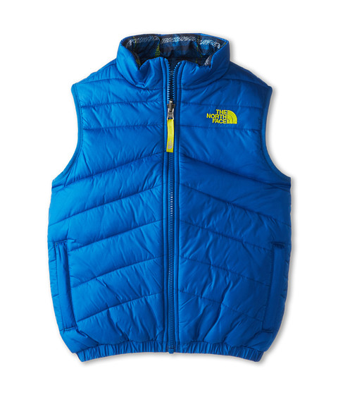 The North Face Kids - Reversible Perrito Vest (Little Kids/Big Kids) (Snorkel Blue/Venom Yellow/Cosmic Blue Plaid) Boy