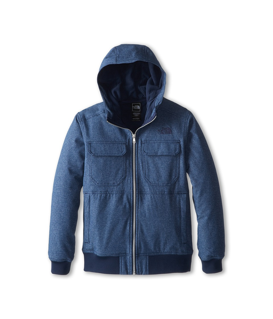 The North Face Kids - Hooded Soft Shell Jacket (Little Kids/Big Kids) (Cosmic Blue/Cosmic Blue) Boy's Coat