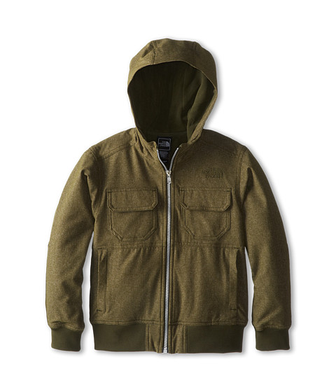 The North Face Kids - Hooded Soft Shell Jacket (Little Kids/Big Kids) (Forest Night Green (Wool)/Forest Night Green) Boy