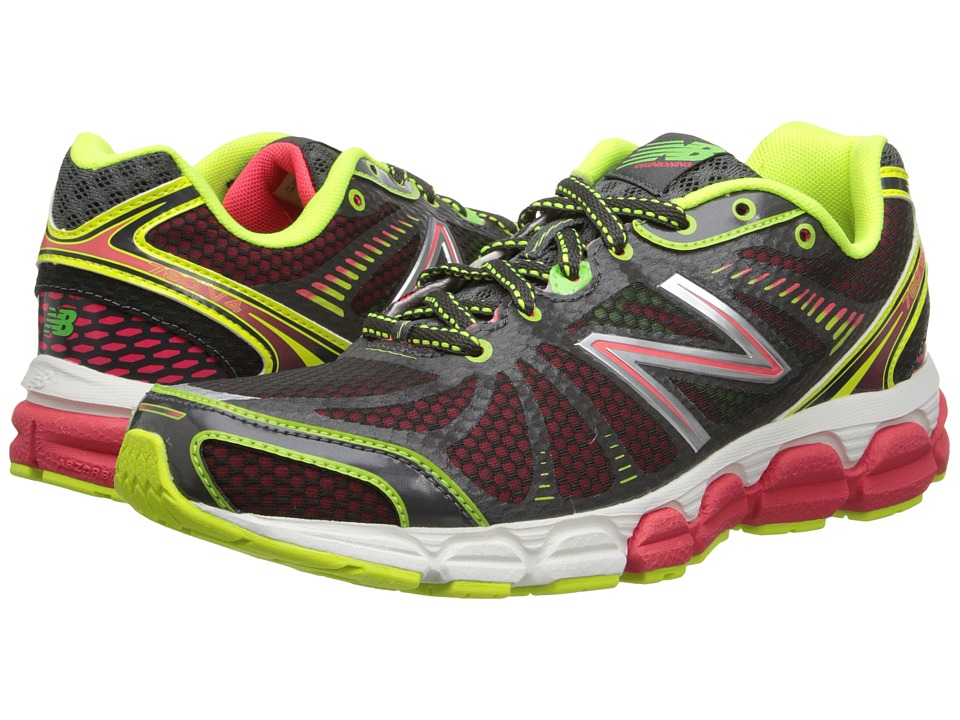 New Balance - W780v4 (Dark Grey/Pink/Yellow) Women's Running Shoes