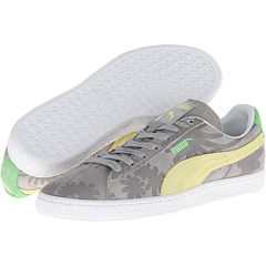 Suede Classic Tropicali (Limestone Gray/Sunny Lime)