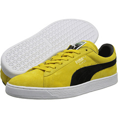 Suede Classic (Vibrant Yellow/Black) Shoes