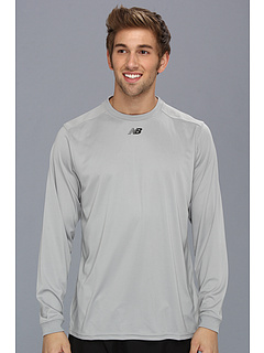 SALE! $15.3 - Save $19 on New Balance Team L S Top (Light Grey) Apparel - 55.00% OFF $34.00