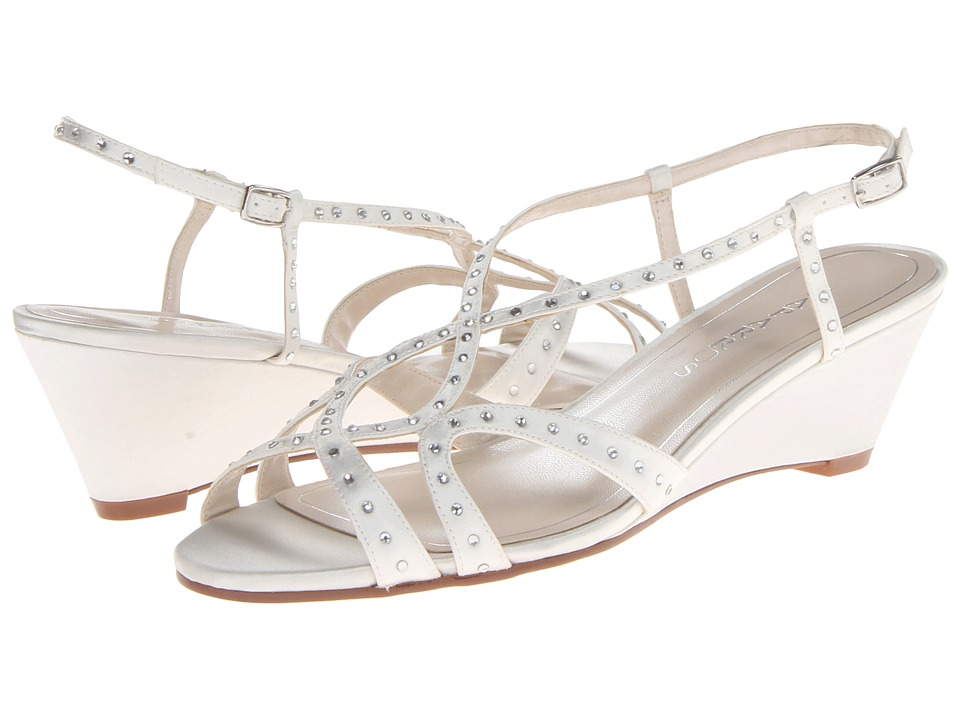 Caparros - Lisette (Ivory Satin) Women's Wedge Shoes