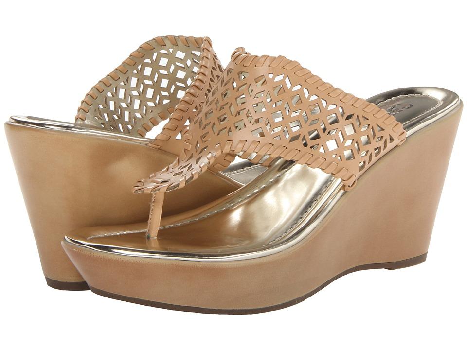 CARLOS by Carlos Santana - Laclede (Tan) Women's Toe Open Shoes