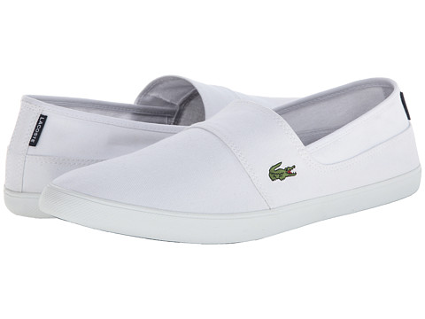 Lacoste - Marice LCR (White/White) Men's Slip on Shoes