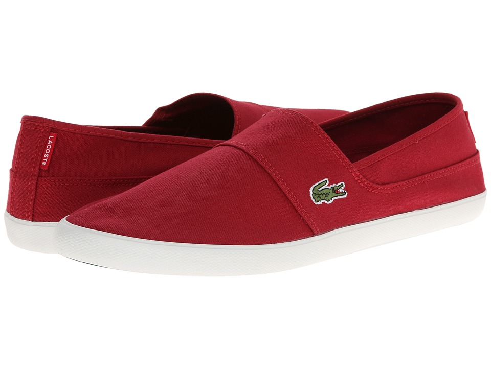 Lacoste - Marice LCR (Dark Red/Dark Red) Men's Slip on Shoes