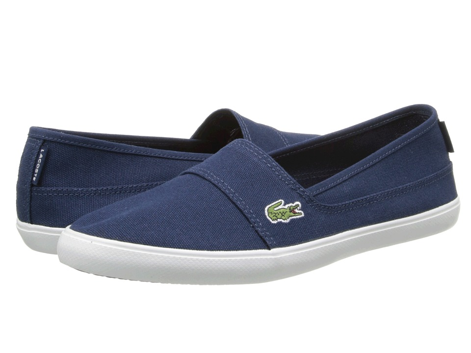 Lacoste - Marice LCR (Dark Blue/Dark Blue) Women's Slip on Shoes