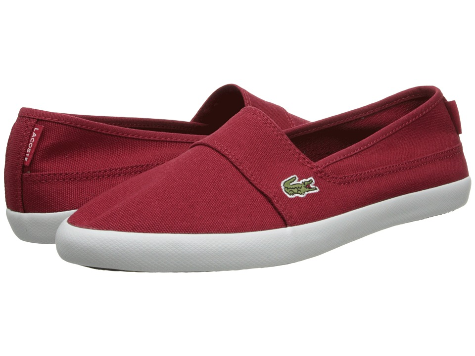 Lacoste - Marice LCR (Dark Red/Dark Red) Women's Slip on Shoes