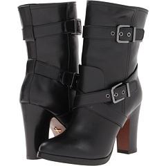 Pour La Victoire Roslin Dress Boot (Black Calf Leather) Footwear