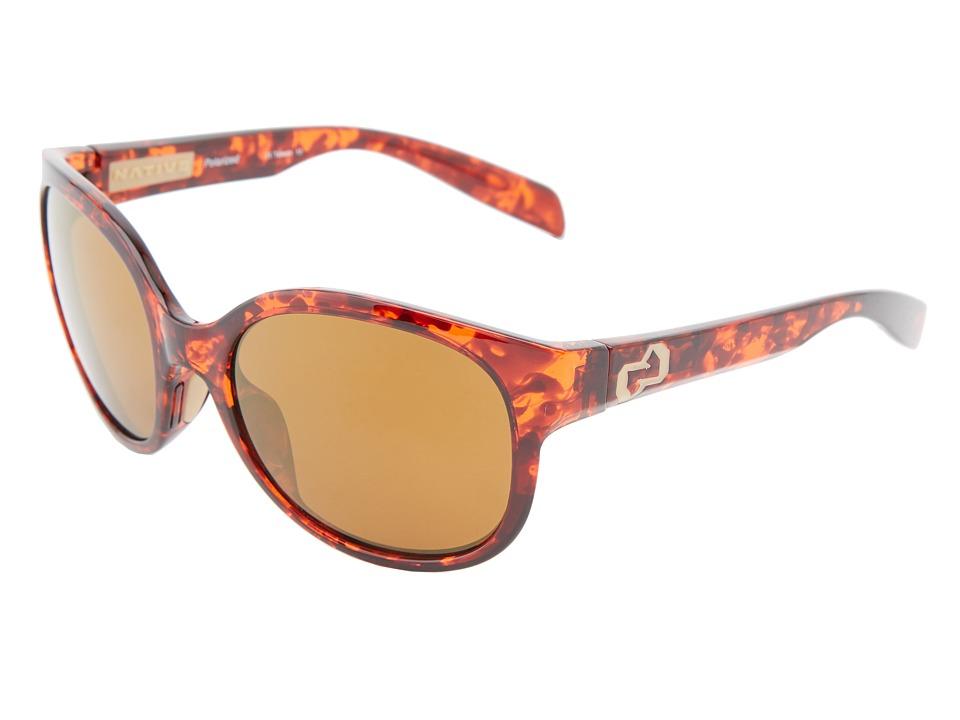 Native Eyewear - Pressley (Maple Tort Bronze Reflex) Sport Sunglasses