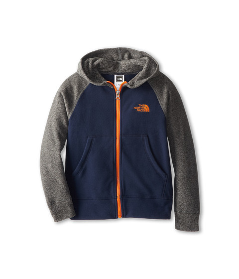 The North Face Kids - Glacier Full Zip Hoodie (Little Kids/Big Kids) (Cosmic Blue/Peel Orange) Boy's Sweatshirt