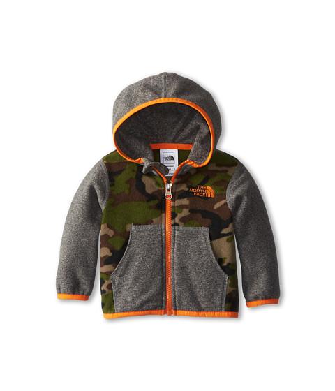The North Face Kids - Glacier Full Zip Hoodie (Infant) (Scallion Green Camo Print/Peel Orange) Girl