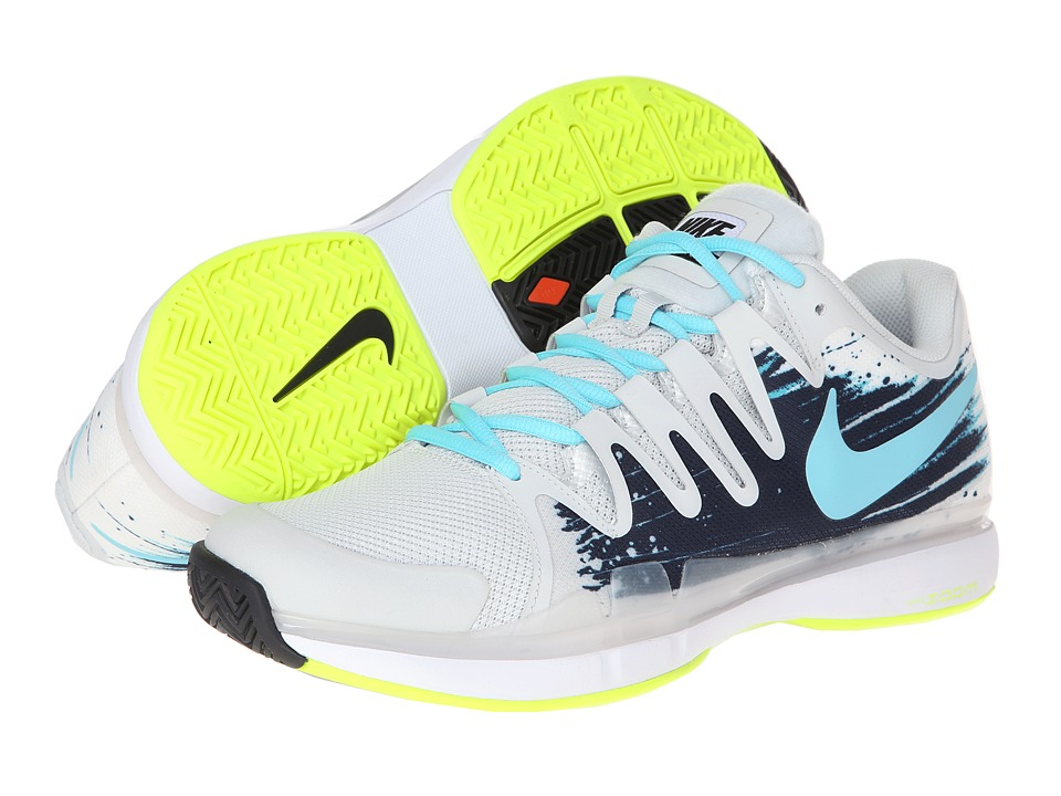 Nike - Zoom Vapor 9.5 Tour (Light Base Grey/Midnight Navy/White/Polarized Blue) Men's Tennis Shoes