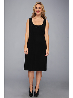 SALE! $44.99 - Save $103 on Karen Kane Plus Plus Size Sleeveless Embellished Dress (Black) Apparel - 69.60% OFF $148.00
