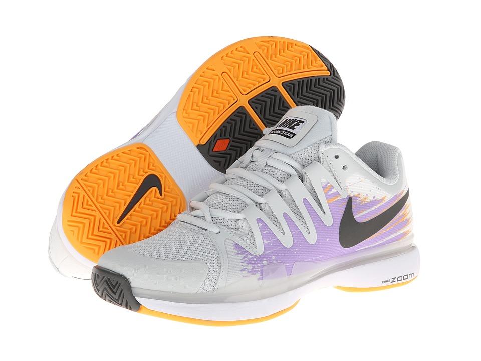 Nike - Zoom Vapor 9.5 Tour (Light Base Grey/Urban Lilac/Atomic Mango/Dark Base Grey) Women