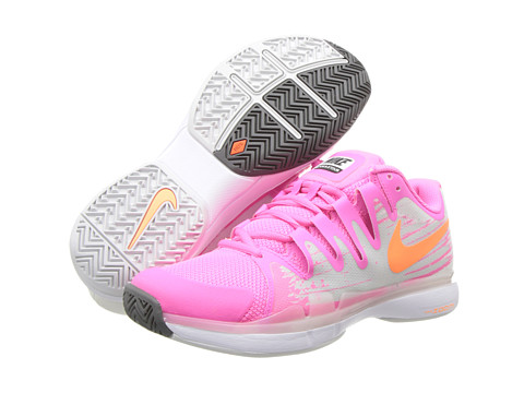Nike - Zoom Vapor 9.5 Tour (Pink Glow/Light Base Grey/White/Atomic Orange) Women's Tennis Shoes