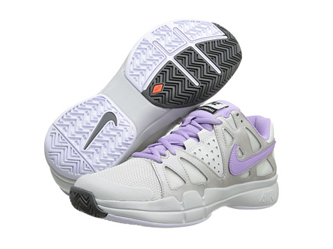 Nike - Air Vapor Advantage (Light Base Grey/Metallic Iron Ore/White/Urban Lilac) Women's Tennis Shoes
