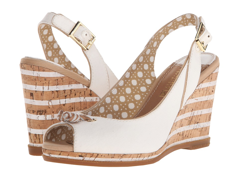 Sperry Top-Sider - Mabel (Ivory Canvas) Women's Wedge Shoes
