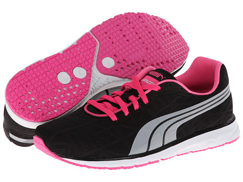 PUMA - Narita v2 (Black/White/Fluo Pink) Women's Running Shoes