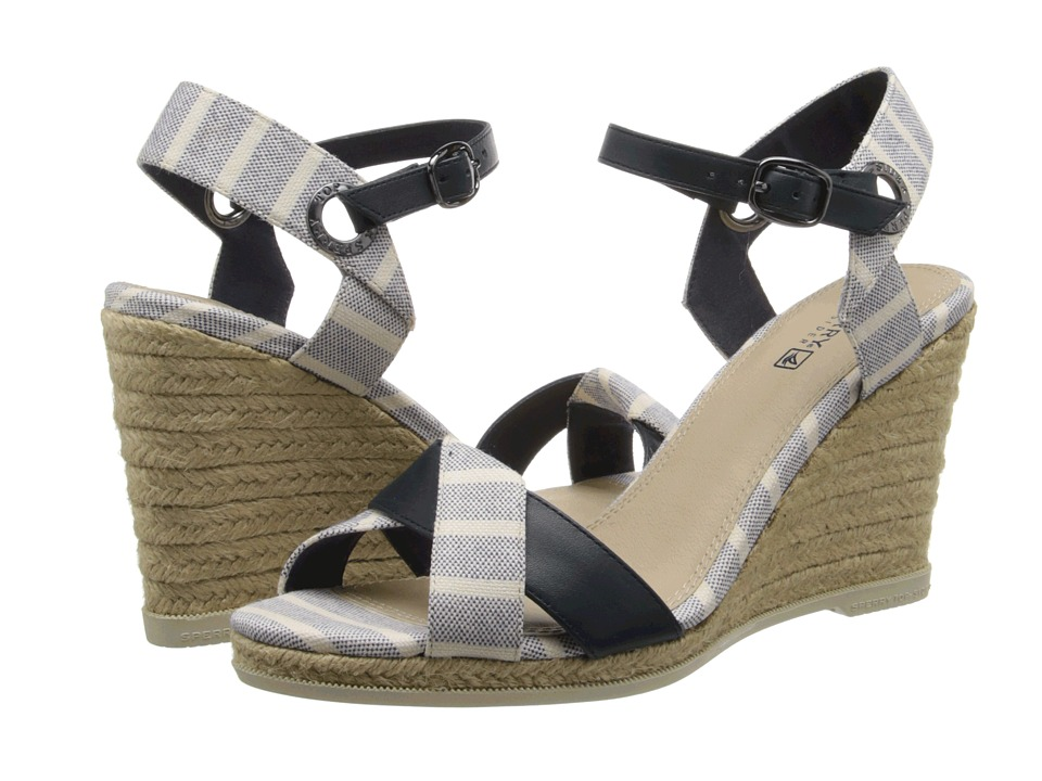 Sperry Top-Sider - Saylor (Navy/Bretton Stripe) Women's Wedge Shoes