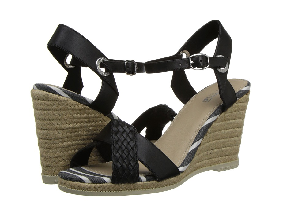 Sperry Top-Sider - Saylor (Black/Woven) Women's Wedge Shoes