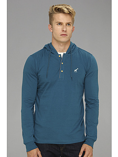 SALE! $18.48 - Save $41 on L R G Journeyman L S Henley (Petro Blue) Apparel - 68.68% OFF $59.00