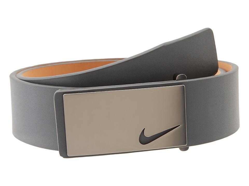 Nike - Sleek Modern Plaque (Dark Grey) Men's Belts