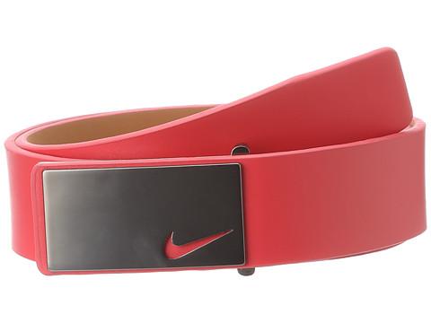 Nike - Sleek Modern Plaque (Light Crimson) Men's Belts