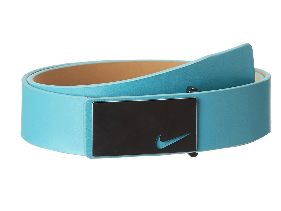 Nike - Sleek Modern Plaque (Turbo Green) Men's Belts